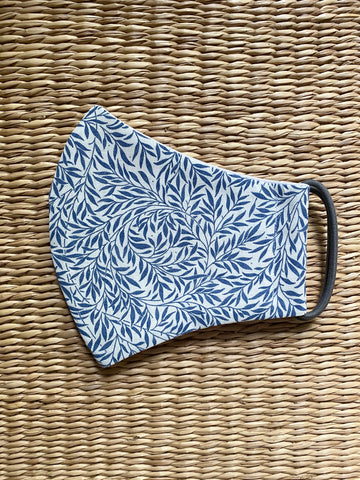 Liberty Fabrics - Willow Wood Blue - Adult Cotton Face Mask