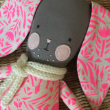 TillyBob Bunny - Pink Neon Canvas