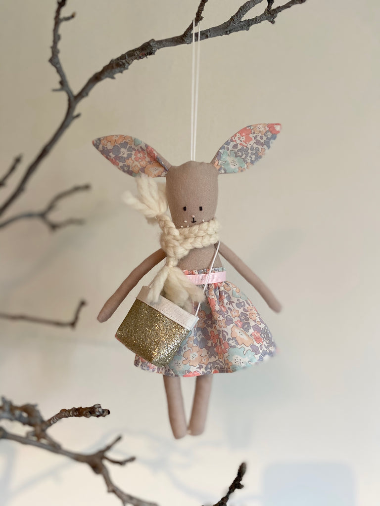 TillyBob Easter Bunny Decoration - ready to ship (Michelle print)