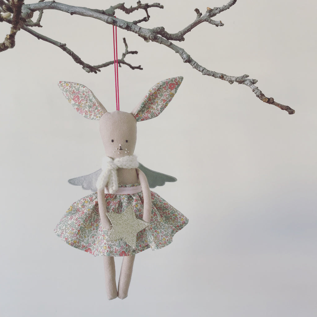 DELIVERY FOR JANUARY- Hanging TillyBob angel decoration.