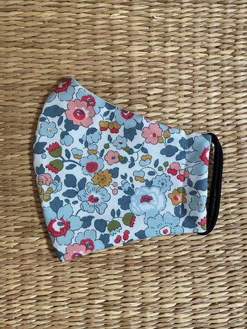 Liberty Fabrics - Betsy Grey - Cotton Face Mask