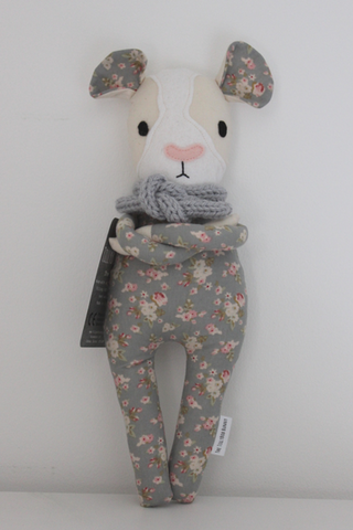 Harriet Hamster - soft grey floral