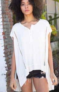 Oversized Hip Pleat Top