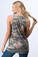 Carly Camo Top, Tops - Bohemian Bliss Boutique