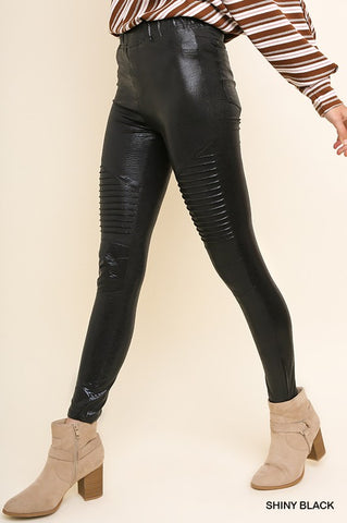 Shiny Moto Leggings