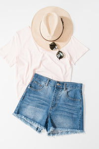 Bohemian Bliss Boutique,Frayed Denim Shorts,Bottoms,Trend notes