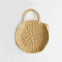 Handmade Rattan Woven Round Messenger Handbag, Handbags - Bohemian Bliss Boutique