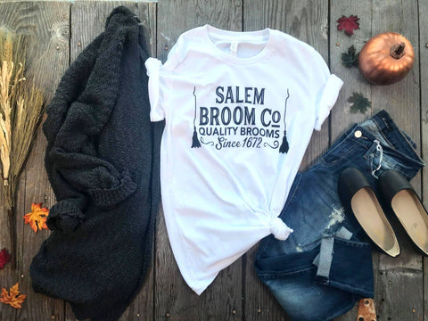 Bohemian Bliss Boutique,PreOrder~Salem Broom Co T-Shirt,Graphic T-Shirts,BAD HABIT WHOLESALE