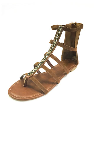 Bohemian Bliss Boutique,Chesnut Gladiator Sandal,Shoes,Bohemian Bliss