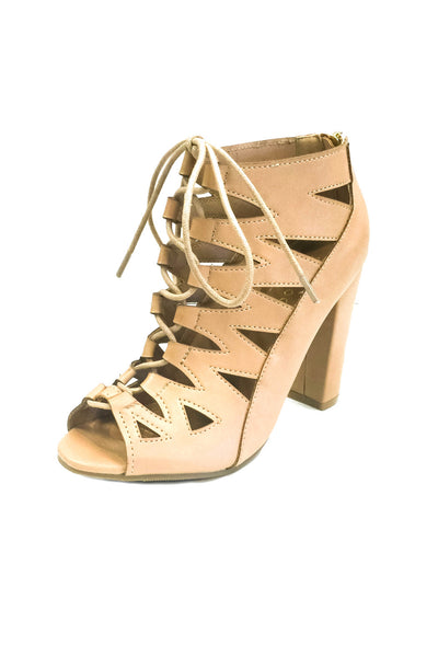 Bohemian Bliss Boutique,Nude Ghillies w/ Chunky Heel,Shoes,JP Original