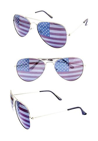 Bohemian Bliss Boutique,Aviator Style American Flag Sunglasses,Gifts,Ocean & Land