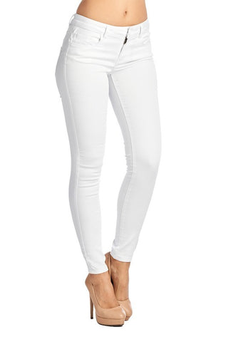 Solid White Denim Jeans