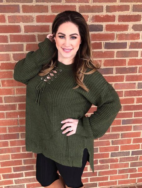 PLUS CHUNKY KNIT HIGH LOW SWEATER