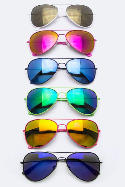 Party Color Fashion Aviators - Bohemian Bliss