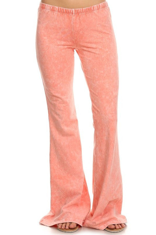 Bohemian Bliss Boutique,Mineral Washed Bellbottoms (Peach),Bottoms,Chatoyant