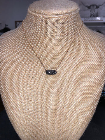 Paved Pendant Necklace