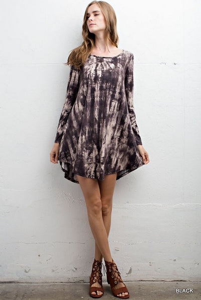 Tie dye long sleeve dress - Bohemian Bliss