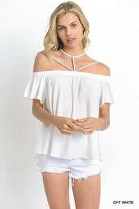 Bohemian Bliss Boutique,Pleated Off the Shoulder Top,Tops,jodifl