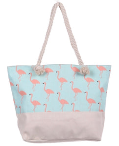 Bohemian Bliss Boutique,Blue Flamingo Beach Bag,Beach Bags,Golden Stella
