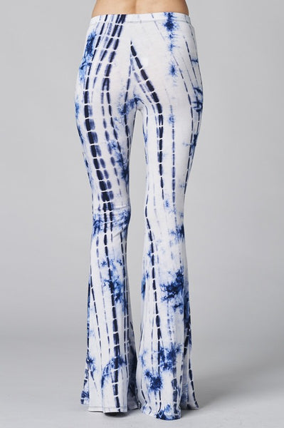 Tie-Dye Elastic Hi-Waist Bell Bottom Pants
