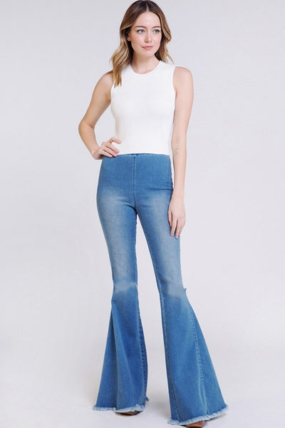 Denim Wide Leg Bellbottoms