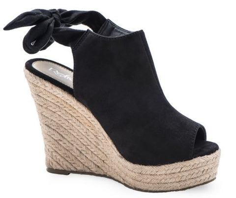 FRAYED BAND ESPADRILLE WEDGES