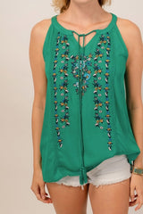 Green with Envy Top, Tops - Bohemian Bliss Boutique