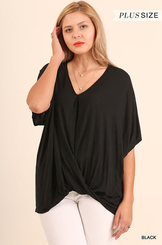 PLUS Relaxed Fit Surplice Top