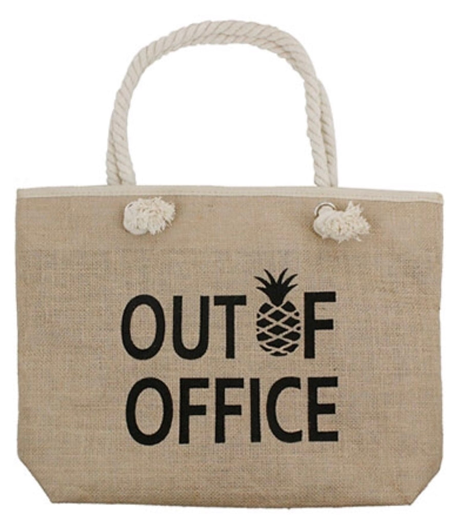 Out Of Office Beach Bag, Beach Bags - Bohemian Bliss Boutique