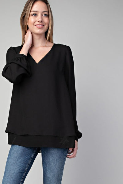 Double Layer Woven Top