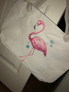 Bohemian Bliss Boutique,Flamingo Beach Bag,Beach Bags,Golden Stella