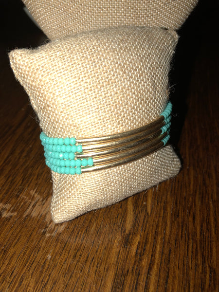 Bohemian Bliss Boutique,Gold Bar Beaded Bracelets,Bracelets,Bohemian Bliss Boutique