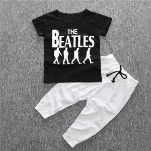 Bohemian Bliss Boutique,The Beatles Tee with Joggers,Childrens,The Baby Diary Store