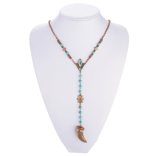 Bohemian Bliss Boutique,Boho Hippie Tusk Necklace (In Store),Necklaces,ojiwan Official Store