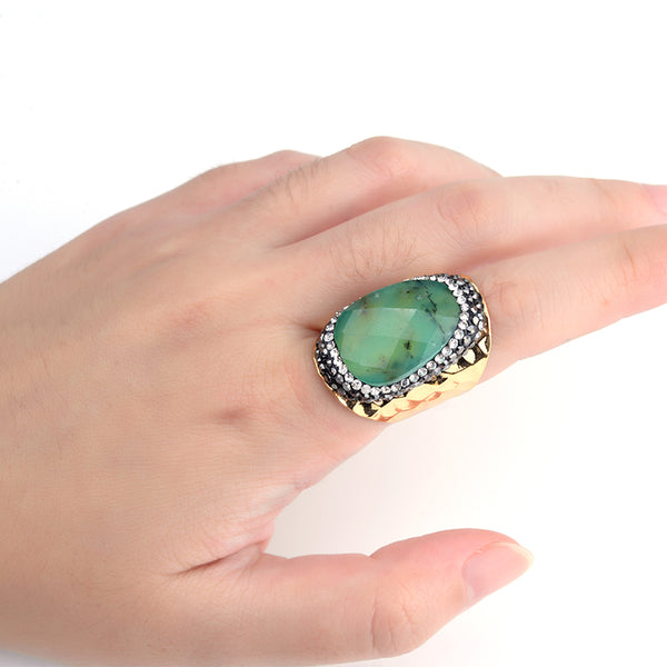 Bohemian Bliss Boutique,Natural Stone Ring,Rings,Bojiu Store