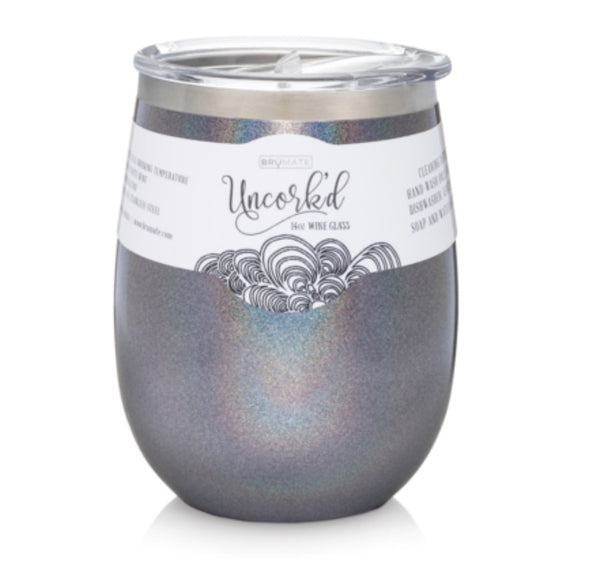 Bohemian Bliss Boutique,Uncorked 14oz Glitter Wine Tumblers,Gifts,BruMate