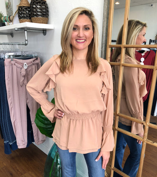 Peplum Layered Top