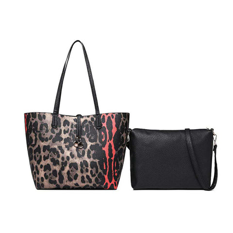 Leopard Tote with Inner Bag Included