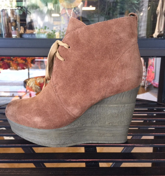 Sbicca Reprise Lace Up Bootie - Tan - Bohemian Bliss