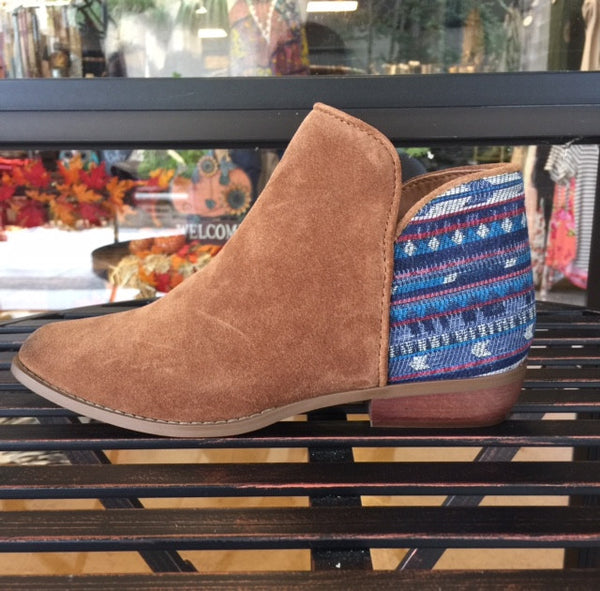 Sbicca Cira Suede Ankle Boot - Tan - Bohemian Bliss