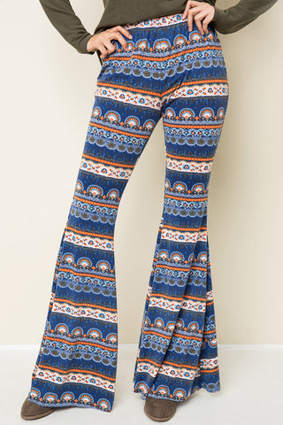 Bohemian Bliss Boutique,Printed Bellbottom Pants,Bottoms,Hayden LA