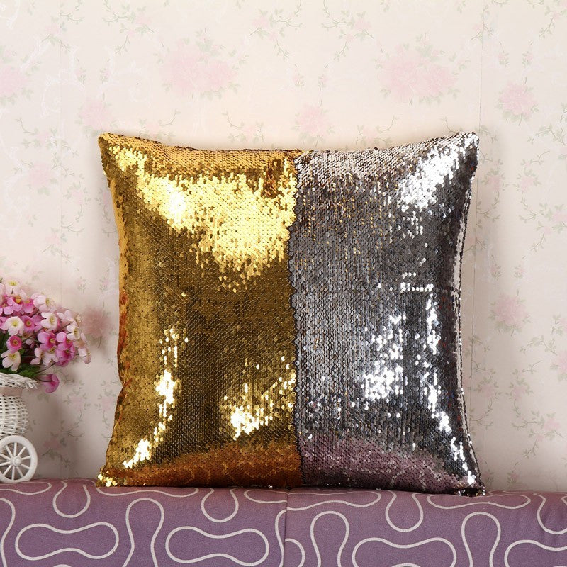 Mermaid Sequin Throw Pillow Case, Gifts - Bohemian Bliss Boutique