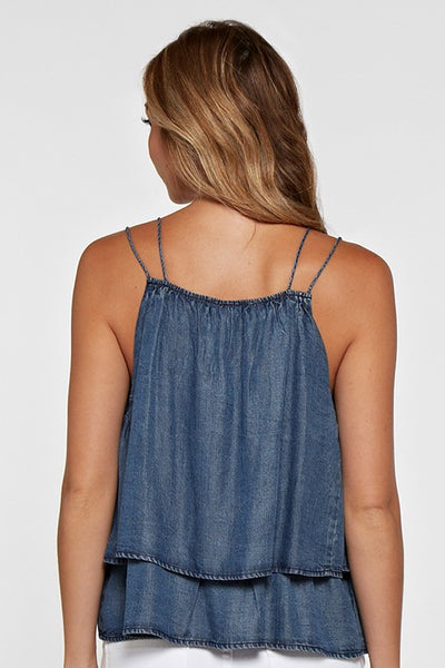 Bohemian Bliss Boutique,Dark Vintage Wash Swing Tank,Tops,Love Stitch