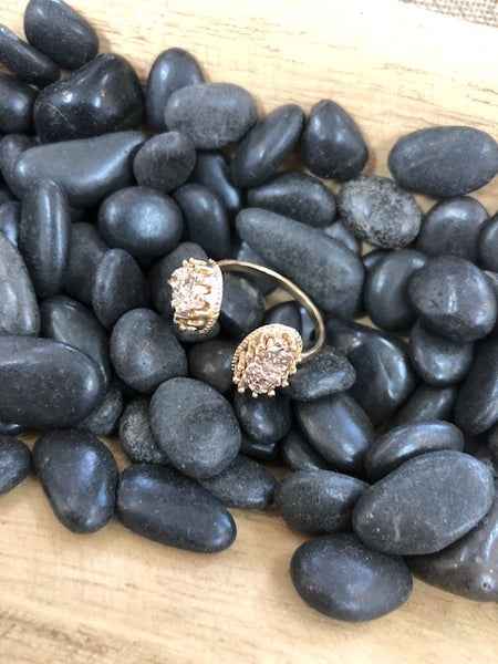 Bohemian Bliss Boutique,Druzy Ring,Rings,Golden Stella