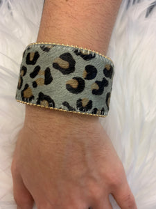 Grey Cheetah Cuff