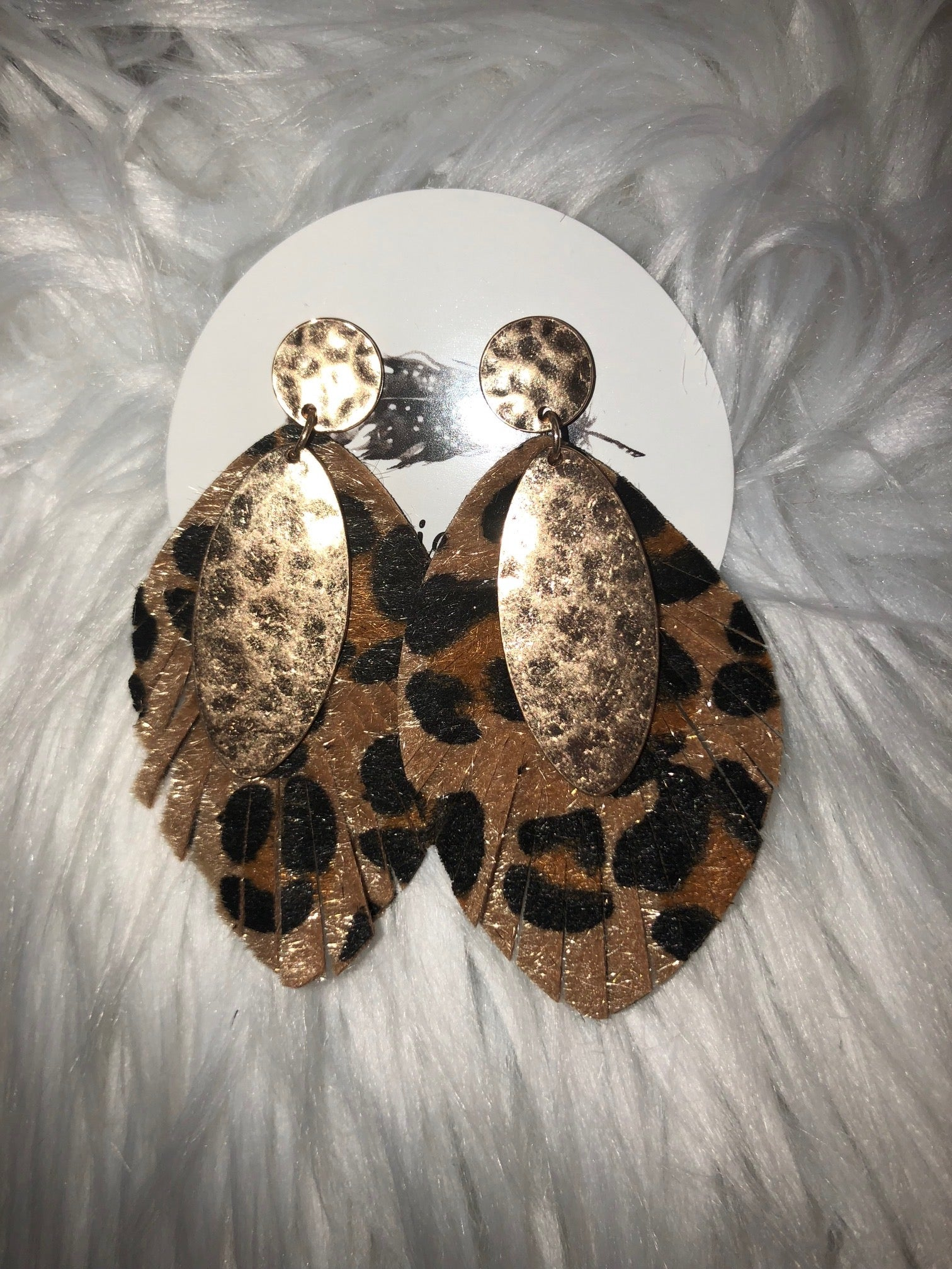 Cheetah Print Hide with Gold Accent