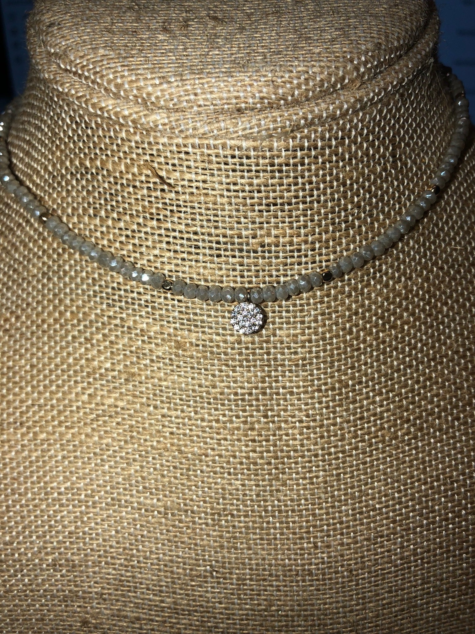 Choker with Round Pendant