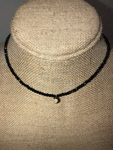 Bohemian Bliss Boutique,Choker w/Crescent Moon,Necklaces,Golden Stella