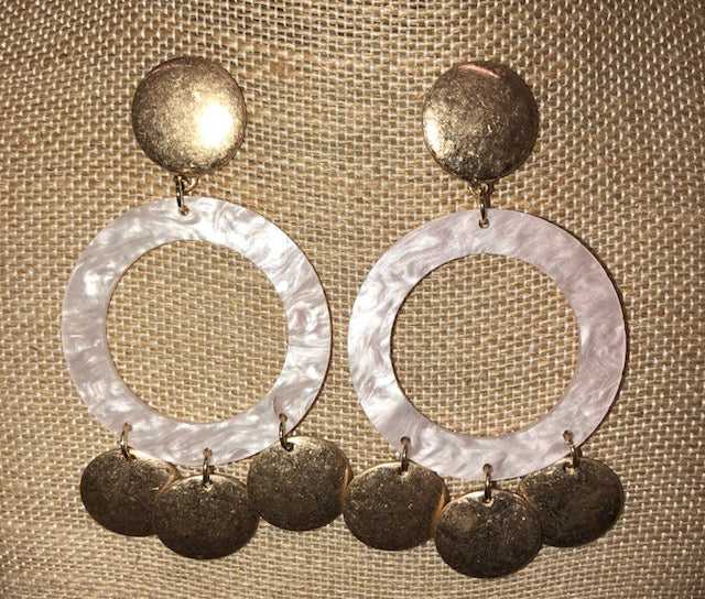 Baby Pink Acrylic Earrings, Earrings - Bohemian Bliss Boutique