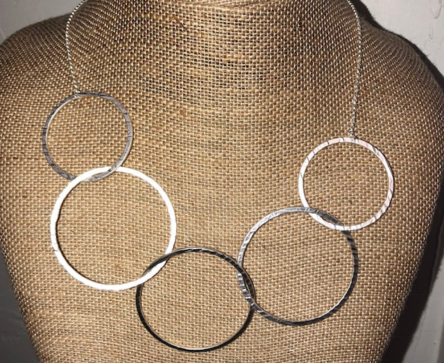 Bohemian Bliss Boutique,Circle Necklace,Necklaces,Golden Stella